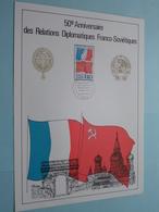 50e Anniversaire Des Relations Diplomatiques Franco-Soviétiques ( 22 Nov 1975 / Voir Photo ) Format A4 - N° 09 De 38 Ex. - FDC