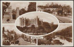 Multiview, Arundel, Sussex, 1948 - Valentine's RP Postcard - Arundel