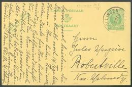 Canton De L'Est - E.P. Carte 30c. HOUYOUX Vert Sur Crème Obl. Sc BÜLLINGEN BULLANGE 29.8.1927 Vers Robertville -  13038 - Stamped Stationery