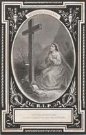 Karel Francies De Baets-assenade-ertvelde 1875-OPGELET-DOOR VORIGE EIGENAAR BLAUW KADER GEPLAKT ! - Devotion Images