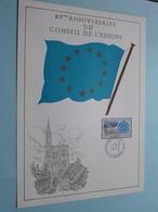 25eme Anniversaire Du CONSEIL DE L'EUROPE ( Strasbourg 4 Mai 1974 / Voir Photo ) Format A4 - N° 29 De 33 Ex. - FDC