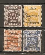 Palestina. Nº Yvert  48-49, 52, 57 (usado) (o) - Palestina