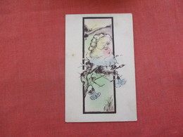 Signed Shinn  Female Head  In Flower    Ref 3030 - Postcards
