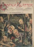 LUSTIGE BLATTER DAS PARLAMENTS JOURNAL ALLEMAGNE PUBLICITE LAMPIONS LUFBALLONS LOCOMOBILEN R WOLF LUGLOCH ANNEE 1894 - Allemagne