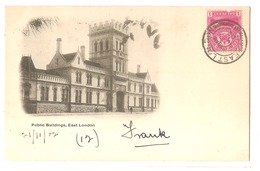 SOUTH AFRICA - EAST LONDON - PUBLIC BUILDINGS - STAMP - MAILED TO ITALY 1902 - ( 2783) - South Africa
