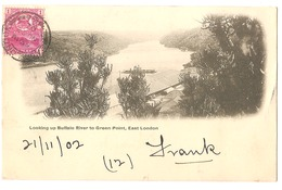 SOUTH AFRICA - EAST LONDON - LOOKING UP BUFFALO RIVER TO GREEN POINT - STAMP - MAILED TO ITALY 1902 - ( 2785) - South Africa