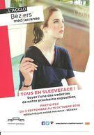 Carte Postale Cinéma Artiste Isabelle ADJANI Béziers MAM Sleeveface - Artiesten