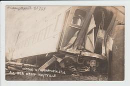 HOYTVILLE - OHIO - USA - TRAIN WRECK - DERAILLEMENT - ACCIDENT - CATATSROPHE - CARTE PHOTO - Etats-Unis