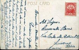 36696 Bermuda, Circuled Card  1933  From Hamilton To Italy - Bermuda