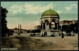 RB 1212 - Early Postcard - Il Fountaine Guillaume II - German Fountain Istanbul Turkey - Turkey