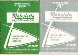"""MOBYLETTE """" MOTOCONFORT """" - Lot De 2 Livrets Mise En Main, Entretien De Sa Bicyclette - Complets - 10 Scans - A Voir ! - Other"""