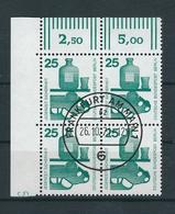 """Unfallverhütung I MiNr. 405 A W OR, Waagerechte Paare (4er Block) Mit Oberrand Und Druckerzeichen DZ """"5"""", Gestempelt, - Berlin (West)"""