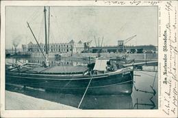 AK Karlsruhe, Rheinhafen, O 1902, Riesengroßer Diagonaler Knick (30988) - Karlsruhe