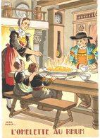 Thème - Recettes - L'homelette Au Rhum - Illustration Jean Paris - Ricette Di Cucina