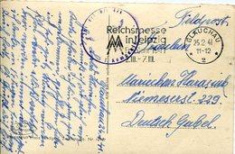 36701 Germany Reich, Circuled Card 1941 Glauchau, Reichsmesse In Leipzig, Deldpost, Censured - Alemania