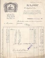 75 - PARIS - LETTRE Ou FACTURE - 1923 -  TAPISSERIES ET BRODERIES / SAJOU / E. ANGLARD - France