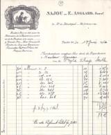 75 - PARIS - LETTRE Ou FACTURE - 1926 -  TAPISSERIES ET BRODERIES / SAJOU / E. ANGLARD - France