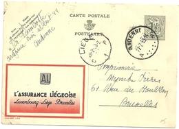 Entier Postal : Assurance Liégeoise - Publibels