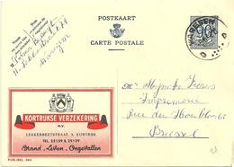 Entier Postal : Kortrijkse Verzekering - Stamped Stationery