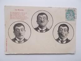 CPA HUMOUR - Humor- LA MOUCHE  Cachet 1906 - NO REPRO - France