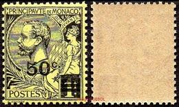 Monaco N°   53 ** Prince Albert Premier - Le 50 C Sur 1f. Noir Sur Jaune - Neufs