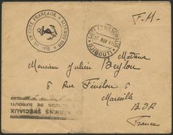 Brief DJIBOUTI 1941, F.M. (Franchise Militaire)-Brief Eines Marineangehörigen Nach MARSEILLE Mit Ankunftsstempel, Vorne  - Sonstige - Europa