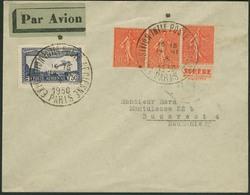 """Brief FRANKREICH 1930, """"PARIS EXPOSITION INTLE POSTE AERIENNE"""", Zwei Sonderstempel Auf Flugpostbrief Mit Mischfrankatur  - Sonstige - Europa"""