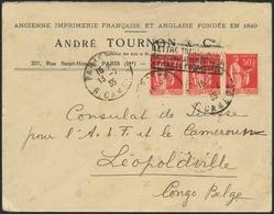 "Brief FRANKREICH 1935, Brief Aus Paris Mit Kastensonderstempel ""LETTRE TRANSPORTE EXCEPTIONELLEMENT PAR AVION A TITRE DE - Sonstige - Europa"