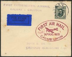 Brief IRLAND 1929, Erstflug Galway-London, Brief Ab Galway 26.8.29 Nach Croydon, Etwas Patina, Mit Vs. Großem Flugstempe - Sonstige - Europa
