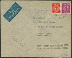 """Brief ISRAEL 1948, """"PREMIER VOL ETAT D'ISRAEL-FRANCE"""", Luftpostbrief (10.06.1948) Aus Tel Aviv Nach Paris, Kleiner Papie - Sonstige - Europa"""