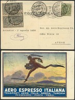 """Brief ITALIEN 1926, Erstflug Brindisi-Athen, Farbige Werbekarte Der """"Aero Espresso ..."""" Mit Flug-SST Brindisi """"Inaug. Li - Sonstige - Europa"""