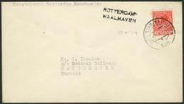 """Brief NIEDERLANDE 1939, Erstflug Rotterdam-Manchester, 7½ C Einzelfrankatur Mit Abstempelung """"ROTTERDAM WAALHAVEN"""", Beig - Sonstige - Europa"""