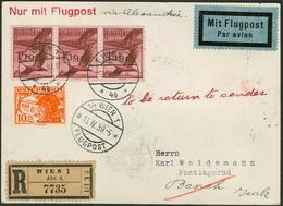 Brief ÖSTERREICH 1930, R-Flugpostkarte (13.06.1930) Mit Frankatur Vorder- Und Rückseitig, Aus Wien Nach BASRAH/Iraq, Dan - Sonstige - Europa