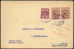Brief PERSIEN / IRAN 1927, Erstflug Teheran-Pahlevi, Brief Ab Teheran AH 18.11.05 (AD 12.2.27) Mit Flugpost-Provisorien  - Sonstige - Europa