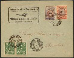 Brief PERSIEN / IRAN 1928, Erstflug Teheran-Bouchir, Brief Ab Teheran 20.4.28 Mit Flugpost-Provisorien In MiF, Flugstemp - Sonstige - Europa