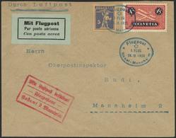 Brief SCHWEIZ 1925, Erstflug Basel-Mannheim, Brief Ab Basel Mit Flug-SST 28.9.25 Mit 45 Rp Flugpost In MiF Nach Mannheim - Sonstige - Europa