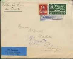 Brief SCHWEIZ 1926, 1. Flugpost Sternenfeld-Eplatures (15.05.1926), Flugpostbrief Mit Mischfrankatur Und Sonder-Kastenst - Sonstige - Europa