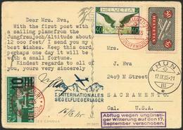 Brief SCHWEIZ 1935, Erste Segelluftpost Am Jungfraujoch, Flug-SST 16.9.35 Auf Karte Mit Bunter MiF, Seltene Destination  - Sonstige - Europa