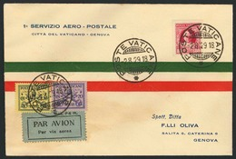 "Brief VATIKAN 1929, Erstflug Nach Genua, Gedruckter Brief ""Serivizio Aereo ... Citta Del Vaticano - Genova"" Ab 2.8.29 Mi - Sonstige - Europa"