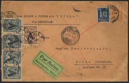 Brief DEUTSCHLAND 1927, Schwerer Brief Ab Hamburg 12.1.27 Nach Honda / Columbien Mit 20 Und 50 Pfg Adler Sowie 4x 30 Und - Luftpost