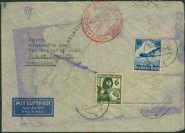 Brief BATHURST/GAMBIA 1937, Absturz Heinkel 111 Der Deutschen Lufthansa, Luftpostbrief Aus ESSEN Nach Rio De Janeiro, Mi - Luftpost