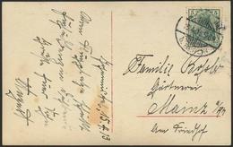 """Brief 1913, Fotokarte Mit Bild Eines Harlan-Eindeckers Und Den Teilnehmern Des """"Ausbildungskursus Für Offiziere Bei Den  - Luftpost"""