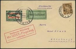 """Brief 1925, Udet Sonderflug Heilbronn-Würzburg, Brief Mit SST """"Heilbronn Flugtag 3. Mai 25"""" Auf 40 Pfg Flugpost Aus 1919 - Luftpost"""