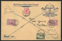 """Brief 1932, Rekordflug / Expedition Nach Australien Der Piloten Bertram Und Klausmann Mit Der Junkers W 33 """"ATLANTIS"""", R - Luftpost"""