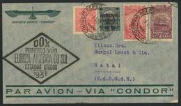 Brief Amerikaflug 1931, Brasilianische Post, Inlands-Etappe Bis Natal, Brief Ab Rio 3.8.31 Mit 950 Rs. In Bunter MiF, Sc - Luftpost