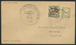 Brief Amerikaflug 1931, Surinam-Post, Brief Ab Paramaribo Nach Rotterdam Mit Flug-SST 10.8.31 Und 20 C Flugpost Mit 1 C  - Luftpost