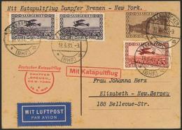 Brief BREMEN 25.6.30, SAARGEBIET, Auffrankierte 40 C GSK Mit Flugpost-MiF Ab Saarbrücken 18.6.30, Minimale Patina, Vorau - Luftpost
