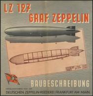 """BAUBESCHREIBUNG Des LZ 127 """"Graf Zeppelin"""" Ausgegeben Von Der DELAG Ca. 1937, Dreiseitiger Farbprospekt, Senkrecht Gefal - Zeppeline"""