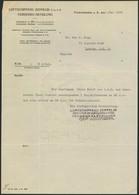 SÜDAMERIKAFAHRT 1930, Zwei Antwortschreiben Der Zeppelin-Reederei Nach London Zu Einer Anfrage Nach Zeppelinmarken Und I - Zeppeline