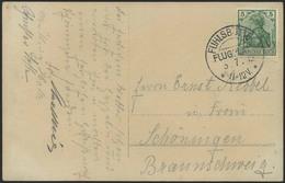 Brief FUHLSBÜTTEL FLUGPLATZ, Fotokarte Des Luftschiffes Viktoria Luise Beim Starten Mit Flugplatz-SST 3.7.12 Mit 5 Pfg G - Zeppeline
